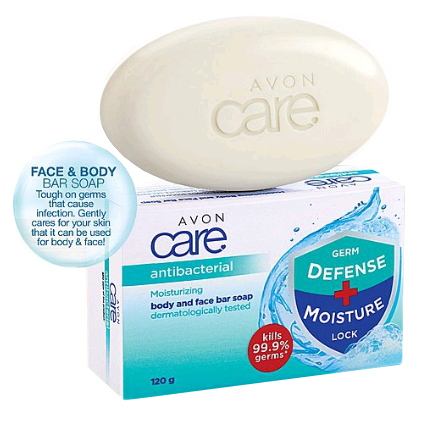 Avon Care Antibacterial Moisturizing Body And Face Soap 120g